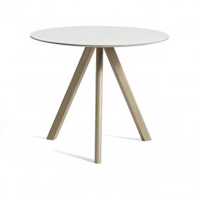 [Hay/헤이] Copenhague CPH20 Table Ø90cm Soaped Solid Oak - White Laminate // 코펜하게 CPH20 테이블 Ø90cm 오크 - 화이트