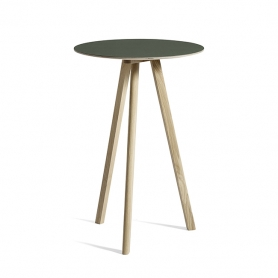 [Hay/헤이] Copenhague CPH20 Table Ø70cm Water-based Lacquered Oak - Green Linoleum // 코펜하게 CPH20 테이블 Ø70cm 오크 - 그린
