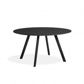 [Hay/헤이] Copenhague CPH25 Table Ø140cm Water-based Lacquered Black Oak - Black Linoleum // 코펜하게 CPH25 테이블 Ø140cm 블랙 - 블랙