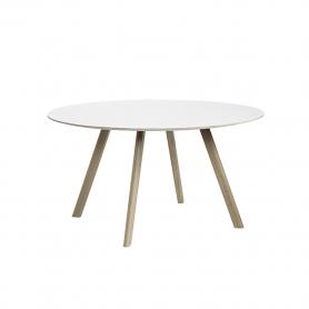 [Hay/헤이] Copenhague CPH25 Table Ø140cm Soaped Solid Oak - White Laminate // 코펜하게 CPH25 테이블 Ø140cm 오크 - 화이트