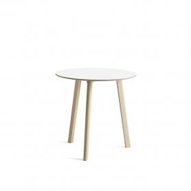 [HAY/헤이] Copenhague CPH Deux 220 Table Ø75cm Untreated Solid Oak - White Laminate // 코펜하게 CPH 듀스 220 테이블 Ø75cm 오크 - 화이트
