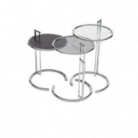 [ClassiCon/클래시콘] Adjustable Table E 1027 - Tabletop smoked glass grey // [부품] E 1027 - 상판 유리