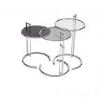 [ClassiCon/클래시콘] Adjustable Table E 1027 - Tabletop metal black glass // [부품] E 1027 - 상판 유리