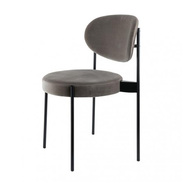 [Verpan/베르판] Chair 430 black // 체어 430 black frame, harald 3 grey