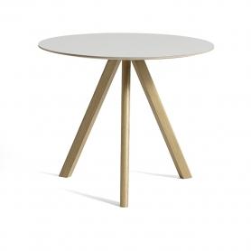 [Hay/헤이] Copenhague CPH20 Table Ø90cm Water-based Lacquered Oak - Off White Linoleum // 코펜하게 CPH20 테이블 Ø90cm 오크 - 화이트