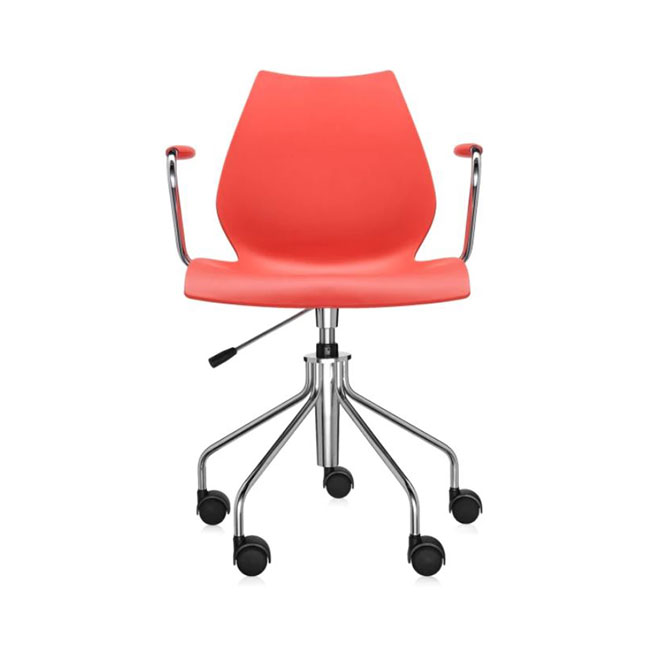 [Kartell/카르텔] Maui Office Chair With Armrests, Purple // 마우이 오피스 체어 위드 암레스트, 퍼플