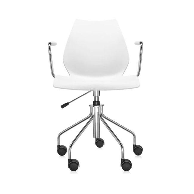[Kartell/카르텔] Maui Office Chair With Armrests, White // 마우이 오피스 체어 위드 암레스트, 화이트