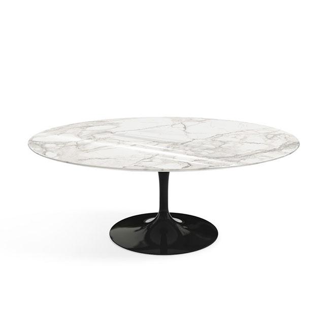[Knoll/놀] Saarinen Coffee Table, Oval 107 x 70-Calacatta Shiny Black // 사리넨 커피 테이블, 오벌 107 x 70-카라카타 샤이니 블랙