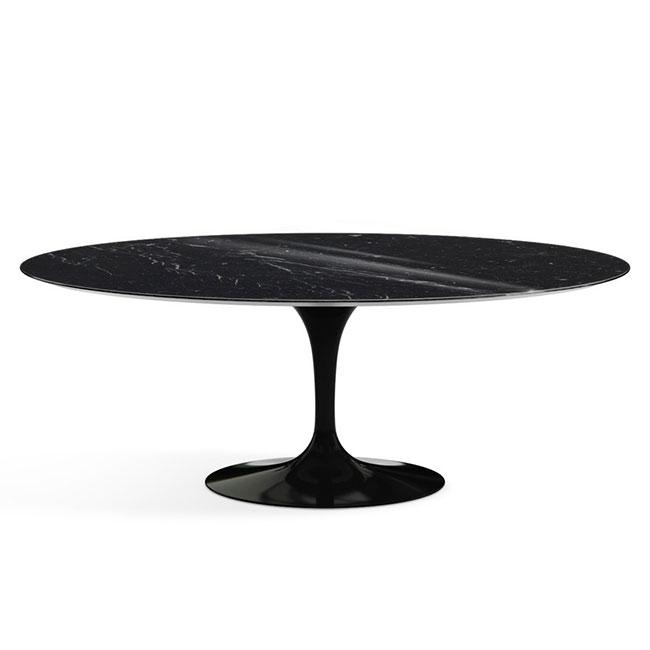 [Knoll/놀] Saarinen Dining Table, Oval 244 x 137-Black marble // 사리넨 다이닝 테이블, 오벌 244 x 137-블랙 마블