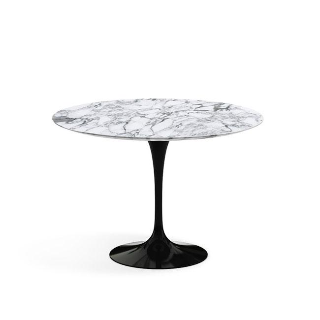 [Knoll/놀] Saarinen Dining Table, Ø 107-Arabescato Black // 사리넨 다이닝 테이블, Ø 107-아라베스카토 블랙