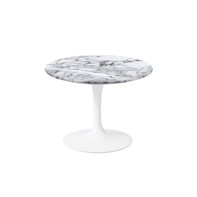 [Knoll/놀] Saarinen Side Table Low, Ø 51-Arabescato // 사리넨 사이드 테이블 로우, Ø 51-아라베스카토
