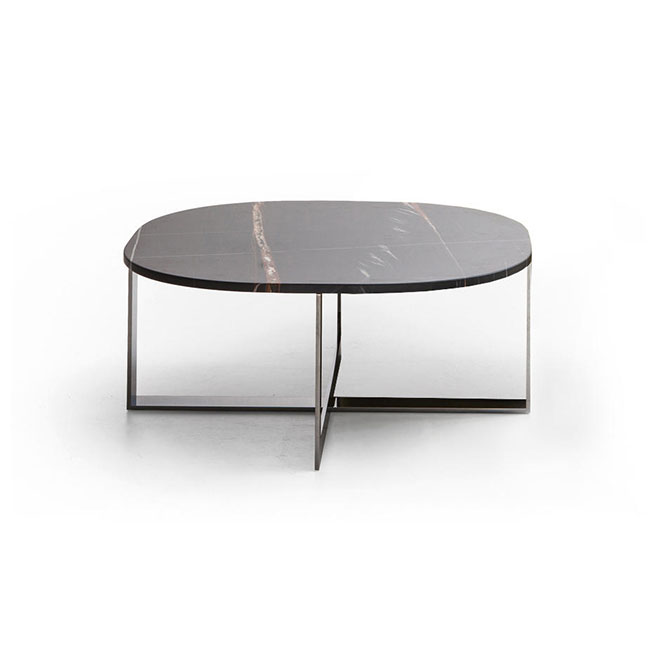 [Molteni&C/몰테니앤씨] Domino Next Table - marble, black chrome // 도미노 넥스트 테이블 - 사하라 마블, 블랙 크롬