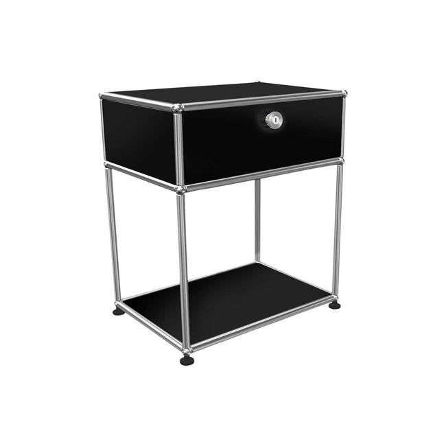 [USM Haller/유에스엠 할러] 1x2 Bedside Table (1-top-door, 1-pannel, W52 x H61) // 1x2 베드사이드 테이블 (1-top-door, 1-pannel, W52 x H61)