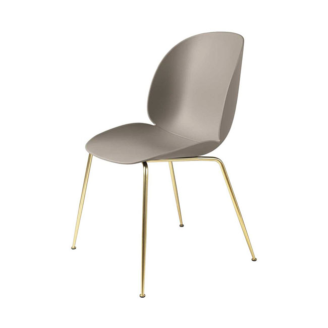 [Gubi/구비] Beetle Chair - New Beige, Brass // 비틀 체어 - 뉴 베이지, 브라스