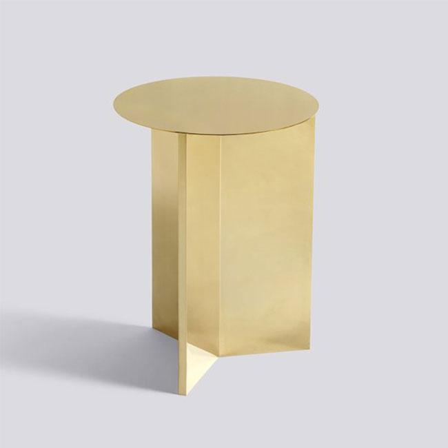 [HAY/헤이] SLIT TABLE HIGH - Brass polished // 슬릿 테이블 하이 - 브라스