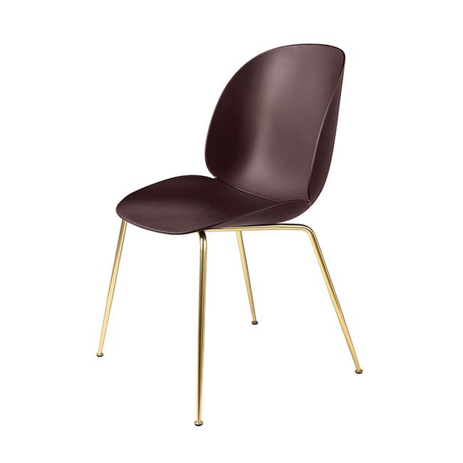 [Gubi/구비] Beetle Chair - Dark Pink, Brass // 비틀 체어 - 다크 핑크, 브라스