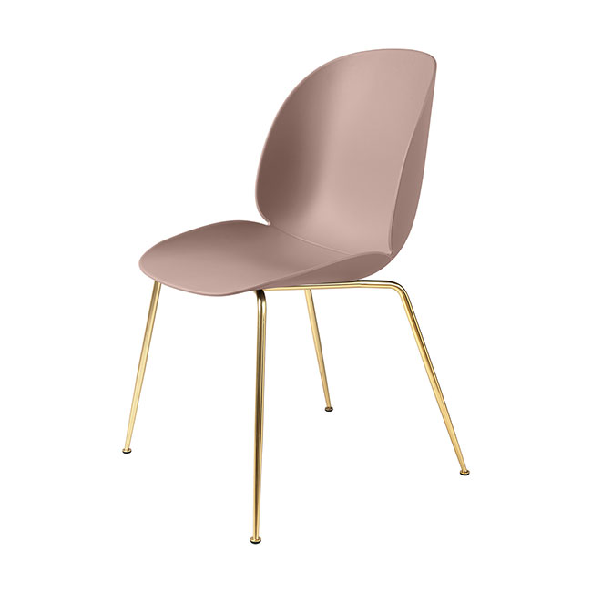 [Gubi/구비] Beetle Chair - Sweet Pink, Brass // 비틀 체어 - 스윗 핑크, 브라스