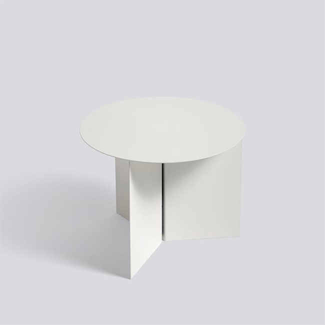 [HAY/헤이] SLIT TABLE ROUND - White // 슬릿 테이블 라운드 - 화이트