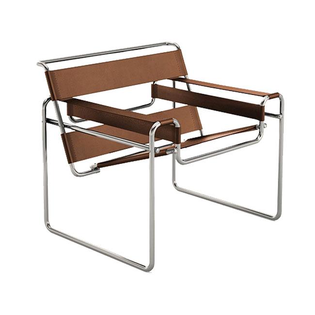 [Knoll/놀] Wassily Chair-Spinneybeck Belting leather// 바실리 체어-스피니백 벨팅 레더 (Warm Beige)