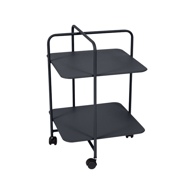 [Fermob/페르몹] Alfred Side Table on Wheels - Anthracite // 알프레드 사이드 테이블 온 휠