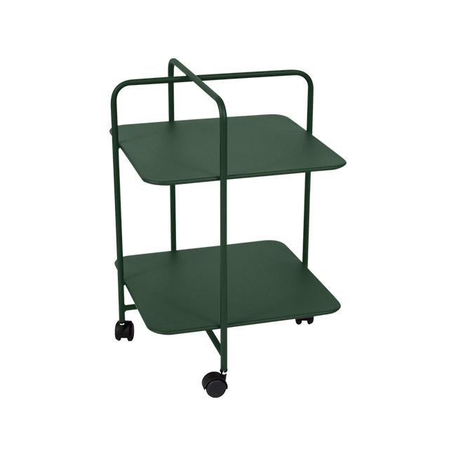 [Fermob/페르몹] Alfred Side Table on Wheels - Cedar Green // 알프레드 사이드 테이블 온 휠