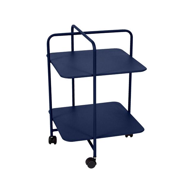 [Fermob/페르몹] Alfred Side Table on Wheels - Deep blue // 알프레드 사이드 테이블 온 휠