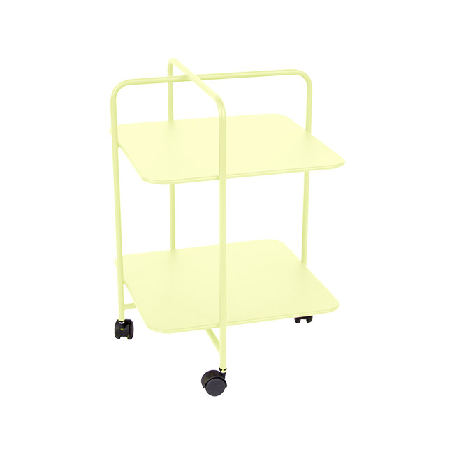 [Fermob/페르몹] Alfred Side Table on Wheels - Frosted lemon // 알프레드 사이드 테이블 온 휠