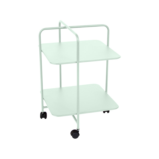 [Fermob/페르몹] Alfred Side Table on Wheels - Ice mint // 알프레드 사이드 테이블 온 휠