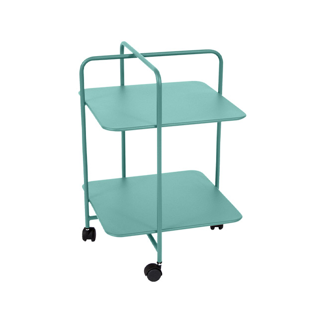 [Fermob/페르몹] Alfred Side Table on Wheels - Lagoon blue // 알프레드 사이드 테이블 온 휠