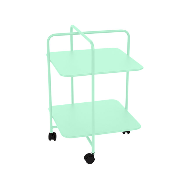 [Fermob/페르몹] Alfred Side Table on Wheels - Opaline green // 알프레드 사이드 테이블 온 휠
