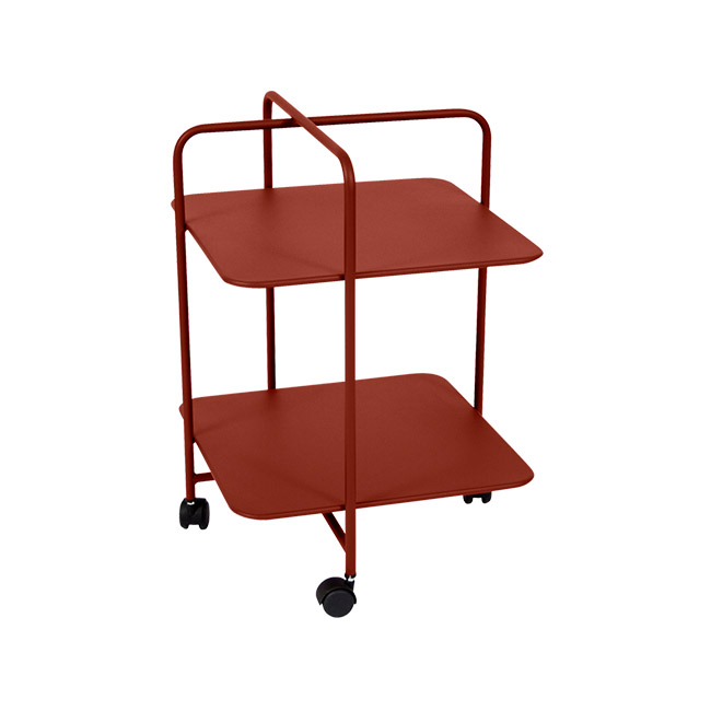 [Fermob/페르몹] Alfred Side Table on Wheels - Red ochre // 알프레드 사이드 테이블 온 휠