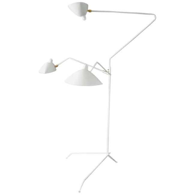 [Serge Mouille/세르주 무이] Standing lamp 3 rotating arms White // 스탠딩 램프 3 로테이팅 암즈 화이트