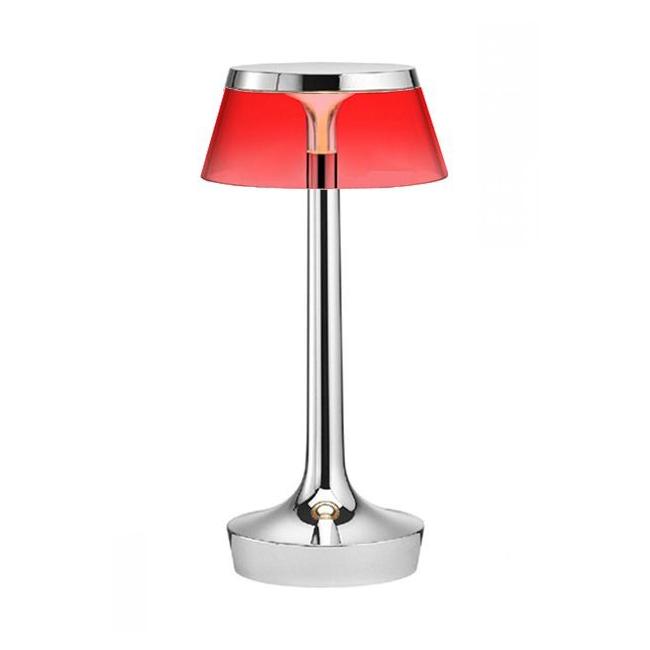 [Flos/플로스] Bon jour Unplugged 테이블 램프 - Chrome Red // 봉주르 언플러그드 테이블 램프 레드